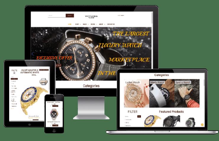 راه اندازی فروشگاه فروش ساعت آنلاین